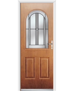 Ultimate Kentucky Rockdoor in Light Oak with Ellipse Glazing