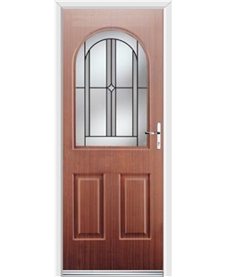 Ultimate Kentucky Rockdoor in Mahogany with Ellipse Glazing