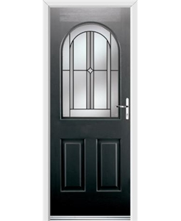 Ultimate Kentucky Rockdoor in Onyx Black with Ellipse Glazing