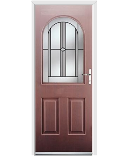 Ultimate Kentucky Rockdoor in Rosewood with Ellipse Glazing