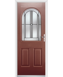 Ultimate Kentucky Rockdoor in Ruby Red with Ellipse Glazing