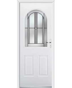 Ultimate Kentucky Rockdoor in White with Ellipse Glazing