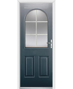 Ultimate Kentucky Rockdoor in Anthracite Grey with White Georgian Bar