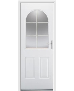 Ultimate Kentucky Rockdoor in Blue White with White Georgian Bar
