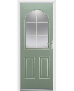 Ultimate Kentucky Rockdoor in Chartwell Green with White Georgian Bar