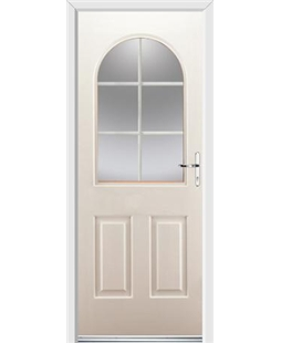 Ultimate Kentucky Rockdoor in Cream with White Georgian Bar
