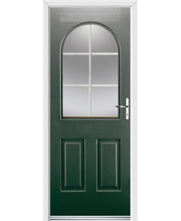 Ultimate Kentucky Rockdoor in Emerald Green with White Georgian Bar