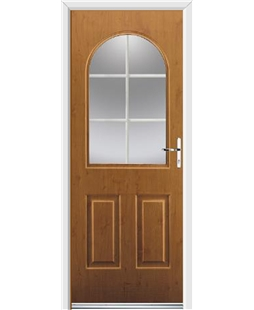 Ultimate Kentucky Rockdoor in Irish Oak with White Georgian Bar