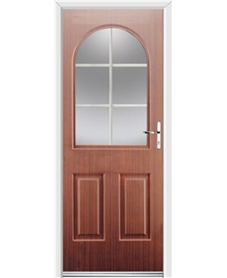 Ultimate Kentucky Rockdoor in Mahogany with White Georgian Bar