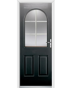 Ultimate Kentucky Rockdoor in Onyx Black with White Georgian Bar