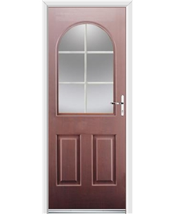 Ultimate Kentucky Rockdoor in Rosewood with White Georgian Bar