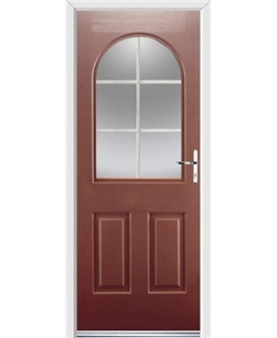 Ultimate Kentucky Rockdoor in Ruby Red with White Georgian Bar