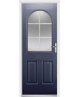 Ultimate Kentucky Rockdoor in Sapphire Blue with White Georgian Bar