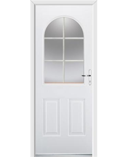 Ultimate Kentucky Rockdoor in White with White Georgian Bar