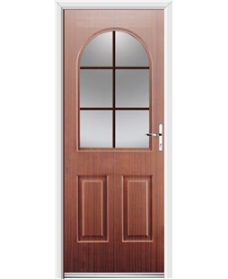 Ultimate Kentucky Rockdoor in Mahogany with Woodgrain Georgian Bar