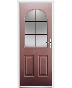Ultimate Kentucky Rockdoor in Rosewood with Woodgrain Georgian Bar