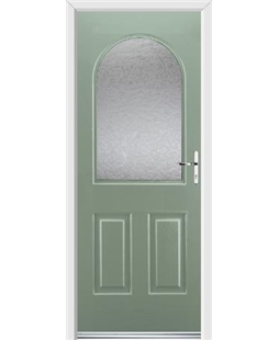Ultimate Kentucky Rockdoor in Chartwell Green with Gluechip Glazing