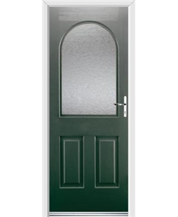 Ultimate Kentucky Rockdoor in Emerald Green with Gluechip Glazing