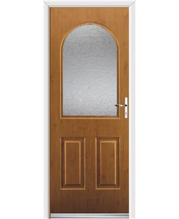 Ultimate Kentucky Rockdoor in Irish Oak with Gluechip Glazing