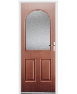 Ultimate Kentucky Rockdoor in Mahogany with Gluechip Glazing