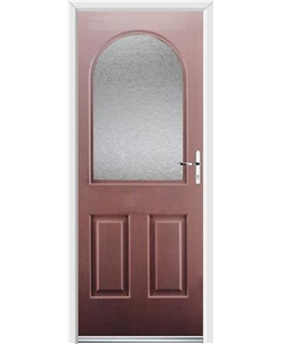 Ultimate Kentucky Rockdoor in Rosewood with Gluechip Glazing