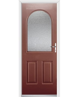 Ultimate Kentucky Rockdoor in Ruby Red with Gluechip Glazing