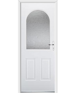 Ultimate Kentucky Rockdoor in White with Gluechip Glazing