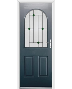 Ultimate Kentucky Rockdoor in Anthracite Grey with Green Diamonds