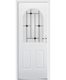 Ultimate Kentucky Rockdoor in Blue White with Green Diamonds