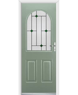 Ultimate Kentucky Rockdoor in Chartwell Green with Green Diamonds