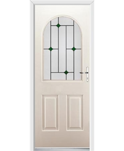 Ultimate Kentucky Rockdoor in Cream with Green Diamonds