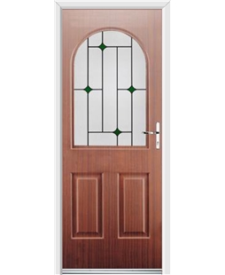 Ultimate Kentucky Rockdoor in Mahogany with Green Diamonds
