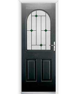 Ultimate Kentucky Rockdoor in Onyx Black with Green Diamonds