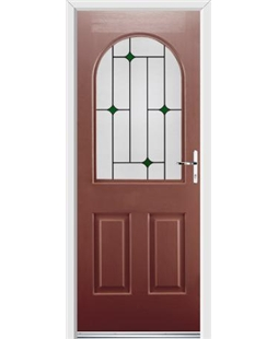 Ultimate Kentucky Rockdoor in Ruby Red with Green Diamonds