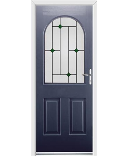 Ultimate Kentucky Rockdoor in Sapphire Blue with Green Diamonds