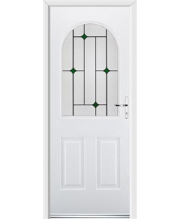Ultimate Kentucky Rockdoor in White with Green Diamonds