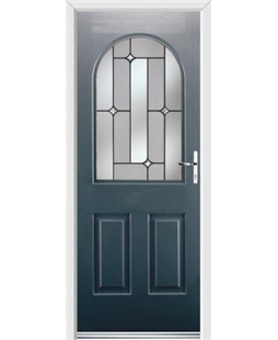 Ultimate Kentucky Rockdoor in Anthracite Grey with Linear Glazing