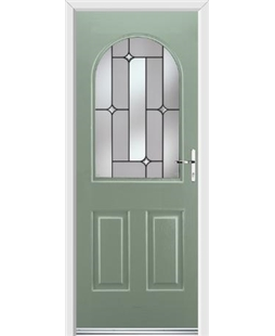Ultimate Kentucky Rockdoor in Chartwell Green with Linear Glazing