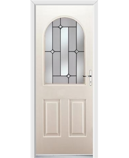 Ultimate Kentucky Rockdoor in Cream with Linear Glazing