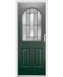 Ultimate Kentucky Rockdoor in Emerald Green with Linear Glazing