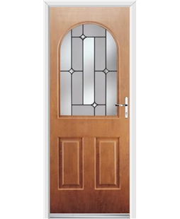 Ultimate Kentucky Rockdoor in Light Oak with Linear Glazing