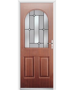 Ultimate Kentucky Rockdoor in Mahogany with Linear Glazing