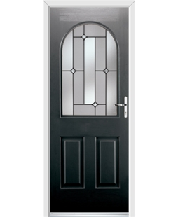 Ultimate Kentucky Rockdoor in Onyx Black with Linear Glazing