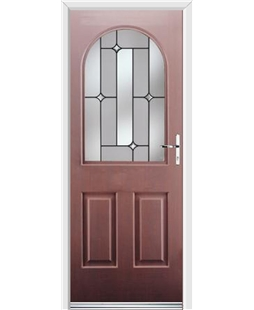 Ultimate Kentucky Rockdoor in Rosewood with Linear Glazing