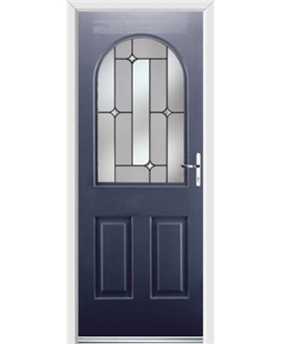 Ultimate Kentucky Rockdoor in Sapphire Blue with Linear Glazing