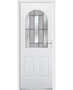 Ultimate Kentucky Rockdoor in White with Linear Glazing