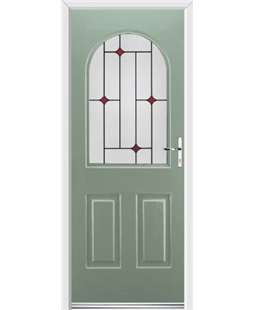 Ultimate Kentucky Rockdoor in Chartwell Green with Red Diamonds