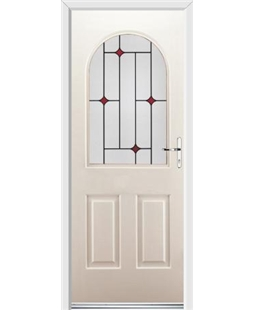 Ultimate Kentucky Rockdoor in Cream with Red Diamonds