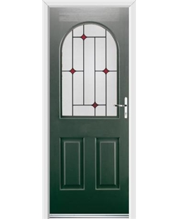Ultimate Kentucky Rockdoor in Emerald Green with Red Diamonds