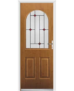 Ultimate Kentucky Rockdoor in Irish Oak with Red Diamonds